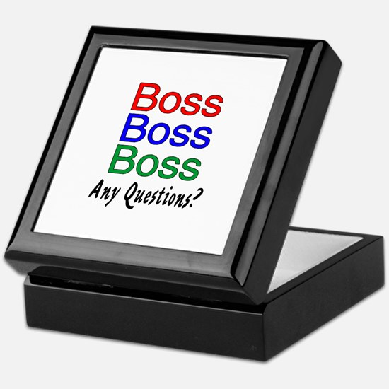Boss, Boss, Boss, Any Questions? Keepsake Box