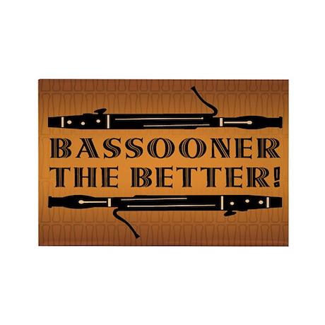 Bassooner the Better (h) Rectangle Magnet