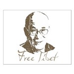 Free Tibet Small Poster
