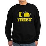 I Love Tibet Sweatshirt (dark)