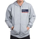 Newt Gingrich for President Zip Hoodie