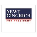 Newt Gingrich for President Small Poster