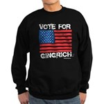 Vote for Gingrich Sweatshirt (dark)
