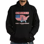 Gingrich for President Hoodie (dark)