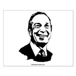 Mike Bloomberg Face Small Poster