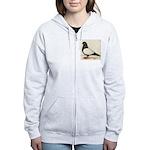 Black Whiteside Roller Pigeon Women's Zip Hoodie