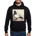 Black Whiteside Roller Pigeon Hoodie (dark)