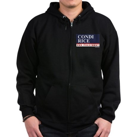 Condi RIce for President Zip Hoodie (dark)
