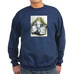 Chinese Owl Pigeons Sweatshirt (dark)