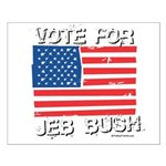 Vote for Jeb Bush Small Poster