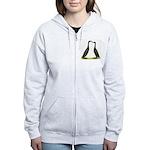Black Runner Ducks Women's Zip Hoodie