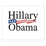 Clinton / Obama 2008 Small Poster