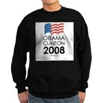 Obama / Clinton 2008 Sweatshirt (dark)