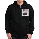 Obama / Clinton 2008 Zip Hoodie (dark)