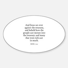 MARK 12:41 Oval Decal