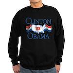 Clinton / Obama 2008 Sweatshirt (dark)