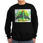 Blue Slate Turkeys2 Sweatshirt (dark)