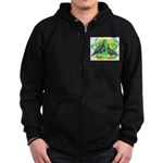 Blue Slate Turkeys2 Zip Hoodie (dark)