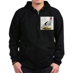 Royal Palm Hen Turkey Zip Hoodie (dark)