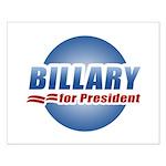 Billary for President Small Poster