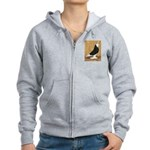 Black Bald West Women's Zip Hoodie