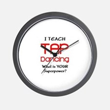 teach tap dance Wall Clock