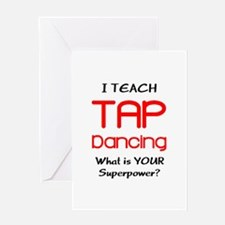 teach tap dance Greeting Card