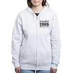 Hillary 2008: She's my girl Women's Zip Hoodie