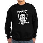 Hillary: Voto para el cambio Sweatshirt (dark)