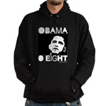 Obama 2008: Obama O eight Hoodie (dark)