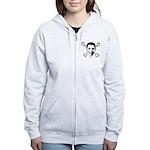 Obama crossbones Women's Zip Hoodie