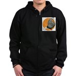 Orange Teager Flight Zip Hoodie (dark)