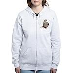 Brown Teager Pigeon Women's Zip Hoodie