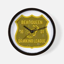 Bead Queen Drinking League Wall Clock