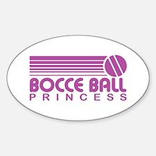 Bocce Ball Princess Oval Decal