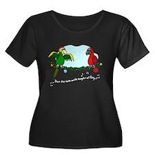 Boughs of Polly Women's Plus Size Dark Tee Shirt