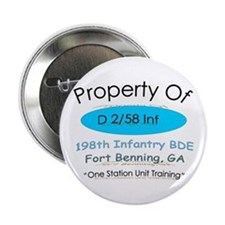 """D co 2/58th inf 2.25"""" Button"""