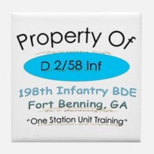 D co 2/58th inf Tile Coaster