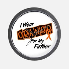 I Wear Orange For My Father 8 Wall Clock