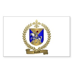 RICORD family Crest Rectangle Decal
