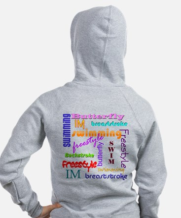 Swimming Everywhere Zip Hoody