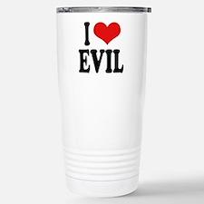 I Love Evil Stainless Steel Travel Mug