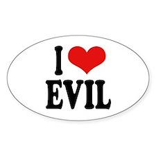 I Love Evil Oval Sticker (10 pk)