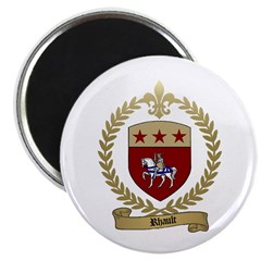 RHAULT Family Crest Magnet