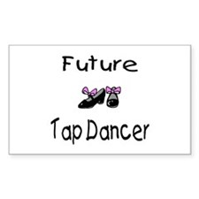 Future Tap Dancer Rectangle Decal