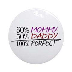 100% Perfect (New Baby) Ornament (Round)