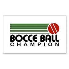 Bocce Ball Champion Decal