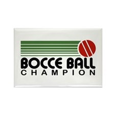 Bocce Ball Champion Rectangle Magnet
