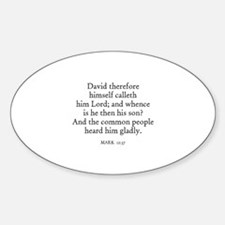 MARK 12:37 Oval Decal