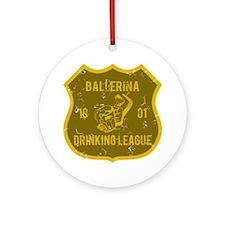 Ballerina Drinking League Ornament (Round)